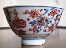 Chinese Porcelain Bowl, Dutch Decorated Over Underglaze Blue. Qing, 18th Century