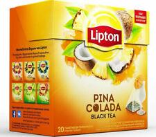 Lipton PINA COLADA Flavor Tea Silk Pyramid 20 Bags