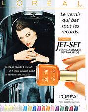 PUBLICITE ADVERTISING 055  1998  L'OREAL vernis ongles JET-SET MILLA JOVOVICH