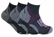 3 Pairs Womens Breathable Anti Sweat Padded Low Cut Ankle Sport Cycling Socks