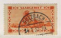 """SARRE / SAAR / SAARGEBIET - 1933 Yv.140 / Mi.143 used """" SULZBACH """""""