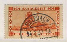 """SARRE / SAAR / SAARGEBIET 1933 Yv.140 / Mi.143 used """" SULZBACH """""""