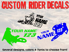 Custom Name Number Motocross Decal Sticker MX SX ride race honda yamaha suzuki
