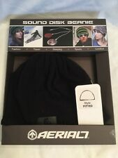 Aerial7 Sound Disc Beanie Fitted Style Black Integrated Earphones Iphone MP3