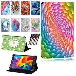 Printed PU Leather Smart Stand Case cover For  Samsung Galaxy Tab 2 /3 /4 Tablet