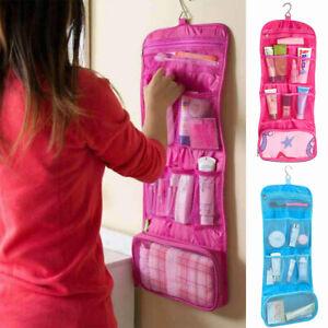 Womens Expandable Travel Hanging Wash Bag Cosmetic Organizer Make Up Storage Bag
