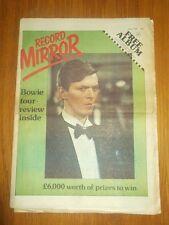 RECORD MIRROR APRIL 15 1978 DAVID BOWIE ELO AC/DC SEX PISTOLS THE STRANGLERS