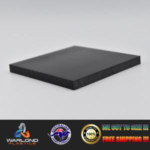 BLACK HDPE SHEET - (A4) 297x210x10mm - FREE SHIPPING!