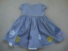 M&S baby girl's summer dress 12-18 - clouds, sun, rain
