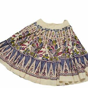 """Soft Surroundings beige lavender Sequin Boho Skirt 3X length """""""