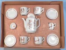 Childs Tea Set Toy German Boys & Girls Bavarian Porcelain Antique Nice Condition
