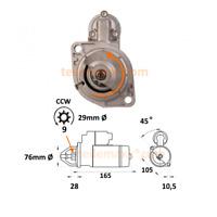 Anlasser für Ruggerini Lombardini BCS 0001107058 0001108050 MD150 MD190 ...