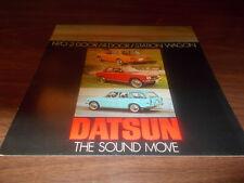 1970 Datsun 6-page Sales Brochure