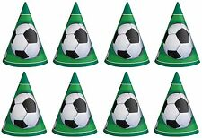 8 x Football Soccer Birthday Party Cone Shaped Party Hats