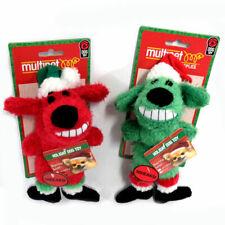 Multipet's Santa Loofa Plush Dog Toy That Squeaks, Set of 2