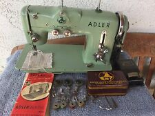 VTG Heavy Duty Adler Sewing Machine Model 153A W/ Attachments Cams Extra Feet