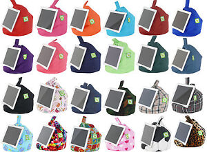 iPad, Book,Tablet & eReader Cushion Bean Bag Pillow Stand - 43 Designs Available