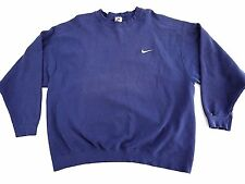 VINTAGE 90s NIKE SWOOSH mens navy blue sweatshirt XL made in USA gray tag