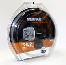SHURE - PG52 - MICROFONO DINAMICO CARDIOIDE PARA BOMBO INCLUYE CABLE 4,5m