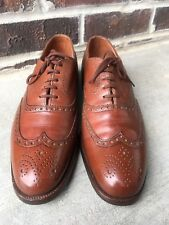 Men's Peal and Co. Brooks Brothers Brown Wingtip Balmorals Dress Shoes Sz 10 N