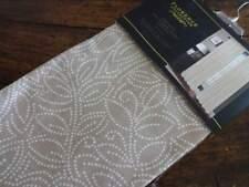 "FLORENCE LEILA Cotton BEIGE White LEAFY VINE Rod Pocket WINDOW PANELS 2PC 52X96"""