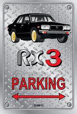 Parking Sign Metal MazdA RX3 4-door-09 - Checkerplate Look
