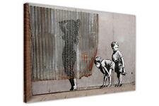 BANKSY Graffiti Art niños expuestos tela pared arte Impresiones Home Deco Fotos