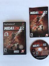 NBA 2K12 PS2 (Sony PlayStation 2, 2011) PS2 Complete W/Manual-CIB Michael Jordan