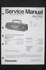 Panasonic rx-fs22 radio cassette player Service-Manual/Schema elettrico Diagram/o90