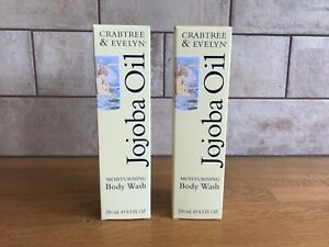 Crabtree & Evelyn Jojoba Oil Moisturising Body Wash 250ml Set of 2 Brand New