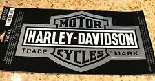"""HARLEY DAVIDSON BAR & SHIELD TRADE MARK  LOGO 4"""" x 2.5"""" CHROME DECAL STICKER"""