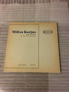 MILIZA KORJUS-ARIAS AND SONGS-LP-VINYL-INSERT-VOCE 52 LP~Vinyl NM- *