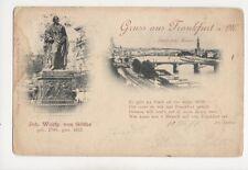 Gruss Aus Frankfurt Am Main Goethe 1898 U/B Postcard Germany 081b