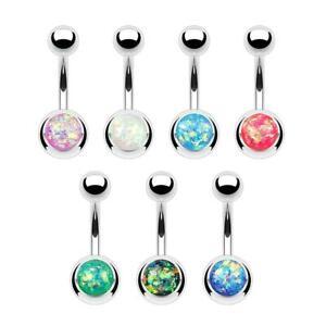 Opal Glitter Belly Bar