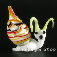 Figurine snail handmade of COLORED GLASS ! 5 cm height NOT PAINTED Ornament Gift