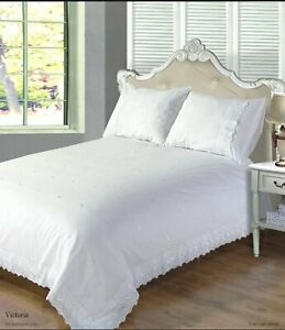 Bedding Heaven® Embroidered, Broderie Anglaise Duvet Covers - VICTORIA