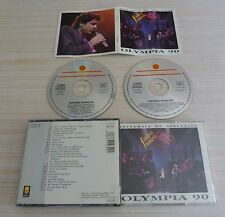 BOX 2 CD ALBUM OLYMPIA 90 INTEGRALE DU SPECTACLE FREDERIC FRANCOIS 23 TITRE 1990