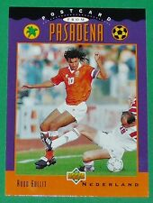 FOOTBALL CARD UPPER DECK 1994 USA 94 RUUD GULLIT NEDERLAND PASADENA