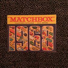 Vintage Matchbox Collector's Catalog U.S.A. Edition 1968