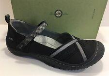 J-41 Women's Jeep Budapest Black Slip On Hiking Walking Vegan Shoe 6.5 $70 New