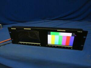 "Marshall M-LYNX-702 Dual 7"" HDMI, 3G-SDI Rackmount Monitor w/1 screen bad,1 good"