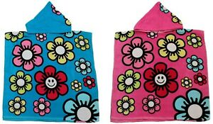 Kidz Swimmers Children Girls Beach Summer Hooded Towel Poncho