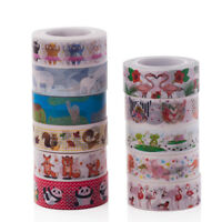 10M Cartoon DIY Washi Paper Tape Decorative Adhesive Masking Sticker + Gift Box