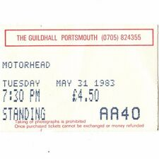 MOTORHEAD Concert Ticket Stub PORTSMOUTH UK 5/31/83 ANOTHER PERFECT DAY TOUR