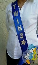 1 *TWINS  Baby Shower MOM TO BE SASH*Blue/BOYS, Ribbon favors,Party  supply,gift