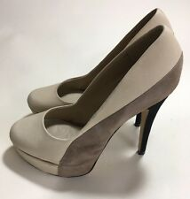 Aldo Women's Heels High Tan Sz 38 Suede 7.5M Fashion