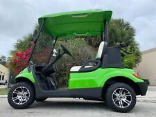 LIME GREEN 2 PASSENGER SEAT ADVANCED EV GOLF CART FAST LUXURY 24 MPH CAR