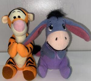 "Tigger & Eeyore plush lot 1997 Mattel Disney Sears 5"" Winnie The Pooh Figures"