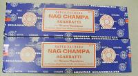 Genuine Satya Sai Baba Nag Champa Incense Sticks 100 Gms X 2 packs= 200gms Total