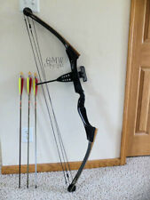 "Vtg Jennings Compound Bow Right Hand 55# @ 29"" Three Matched Arrows 30"" #2018"